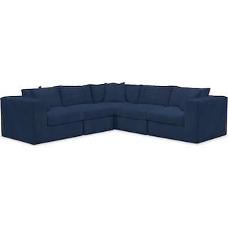 Collin Comfort 5-Piece Sectional - Toscana Navy