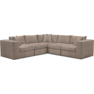 Collin Cumulus 5 Piece Sectional - Goliath Putty