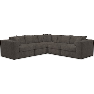 Collin Cumulus 5 Piece Sectional - Synergy Mahogany