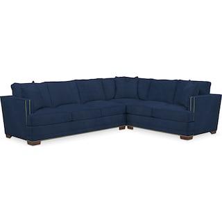 Arden Comfort 2 Piece Sectional with Left-Facing Sofa - Toscana Navy
