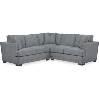 Arden Comfort 2 Piece Sectional with Left-Facing Loveseat - Synergy Pewter