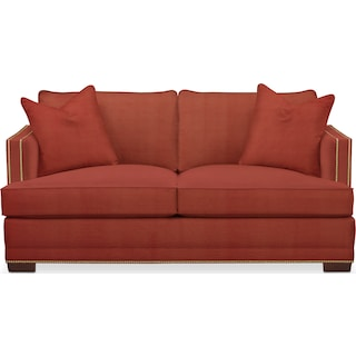 Arden Cumulus Apartment Sofa - Modern Velvet Cayenne