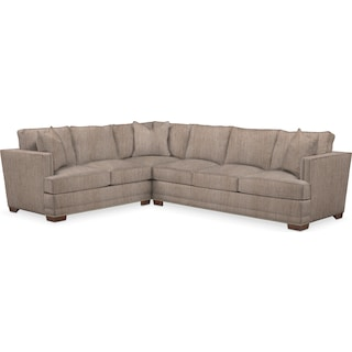 Arden Cumulus 2 Piece Sectional with Right-Facing Sofa - Goliath Putty
