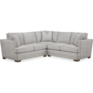 Arden Cumulus 2 Piece Sectional with Left-Facing Loveseat - Everton Gray
