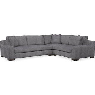 Ethan Comfort 2-Piece Large Sectional with Left-Facing Sofa - Granite
