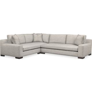 Ethan Cumulus 2 Piece Sectional with Right-Facing Sofa - Living Large White