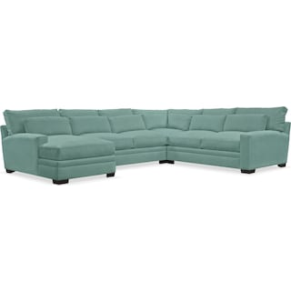 Winston Comfort 4 Piece Sectional with Left-Facing Chaise - Toscana Spa
