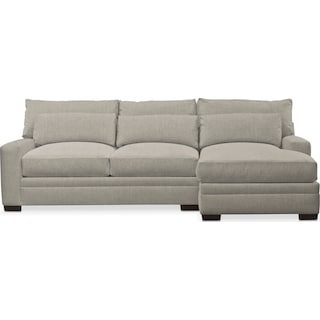 Winston Comfort 2-Piece Sectional with Right-Facing Chaise - Synergy Oatmeal