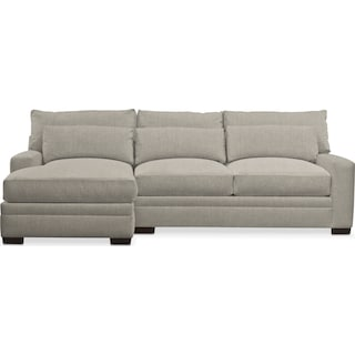 Winston Comfort 2 Piece Sectional with Left-Facing Chaise - Synergy Oatmeal