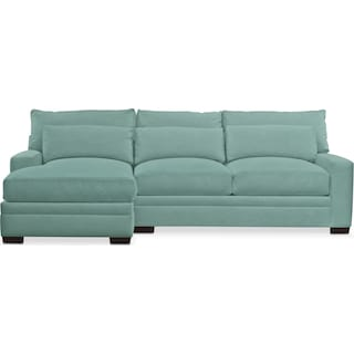 Winston Comfort 2 Piece Sectional with Left-Facing Chaise - Toscana Spa