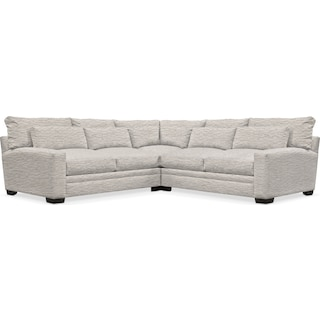 Winston Cumulus 3 Piece Sectional - Living Large White