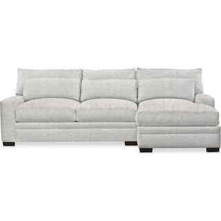 Winston Cumulus 2 Piece Sectional with Right-Facing Chaise - Everton Gray