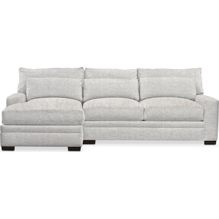Winston Cumulus 2-Piece Sectional with Left-Facing Chaise - Everton Gray