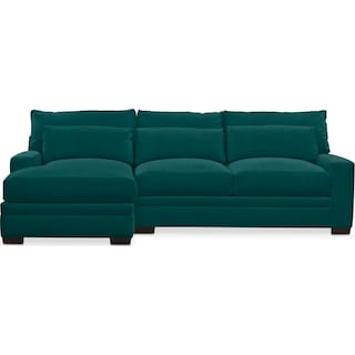 Winston Cumulus 2 Piece Sectional with Left-Facing Chaise - Toscana Peacock