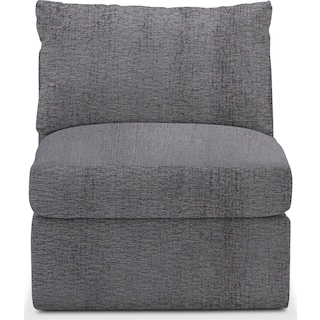 Collin Comfort Armless Chair - Living Large Charcoal