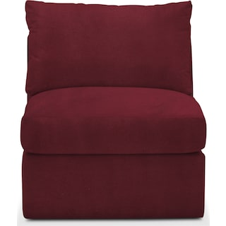 Collin Comfort Armless Chair - Modern Velvet Wine