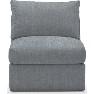 Collin Comfort Armless Chair - Synergy Pewter