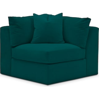 Collin Comfort Corner Chair - Toscana Peacock