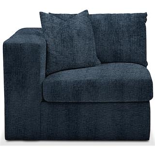 Collin Cumulus Left-Facing Chair - Living Large Indigo