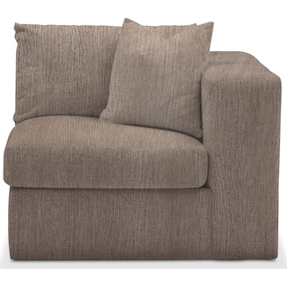 Collin Comfort Right-Facing Chair - Goliath Putty
