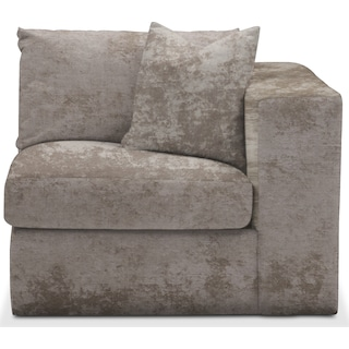 Collin Cumulus Right-Facing Chair - Hearth Cement