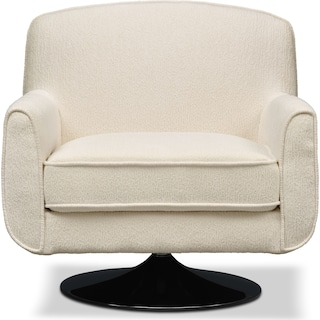 Allyn Swivel Chair - Ivory