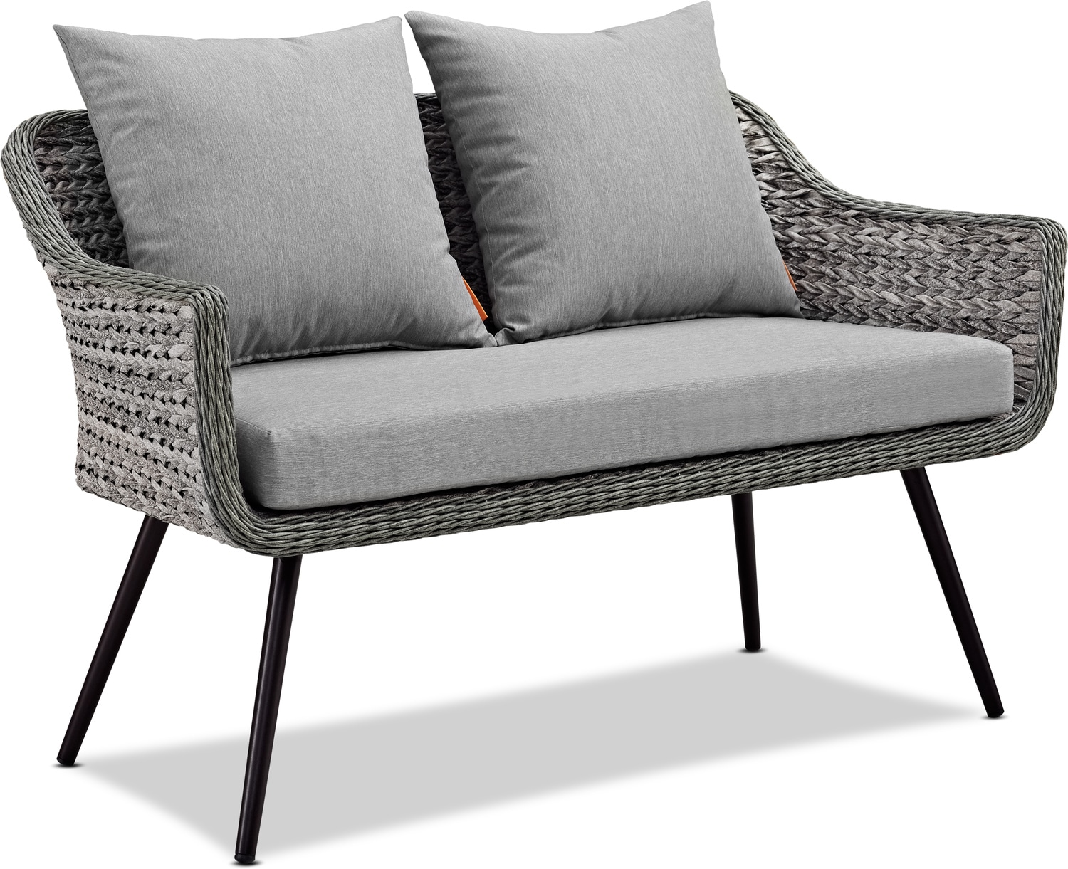 Outdoor Furniture - Palm Outdoor Loveseat - Gray