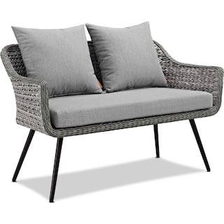 Palm Outdoor Loveseat - Gray