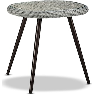 Palm Outdoor End Table - Gray