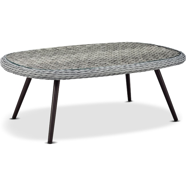 Outdoor Furniture - Palm Outdoor Coffee Table - Gray