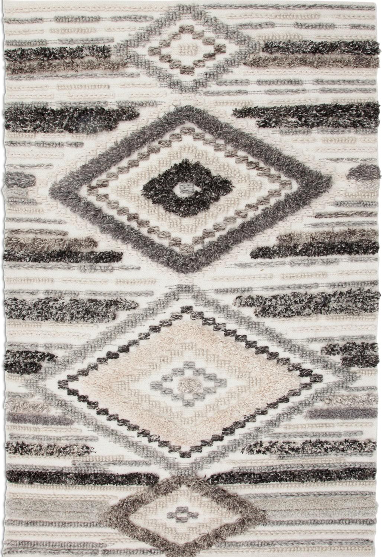 Rugs - Drake Area Rug - Ivory/Gray