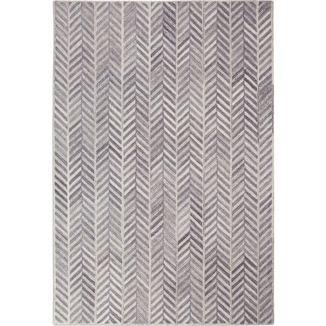 Rugs - Everest 5' x 8' Area Rug - Ivory/Gray