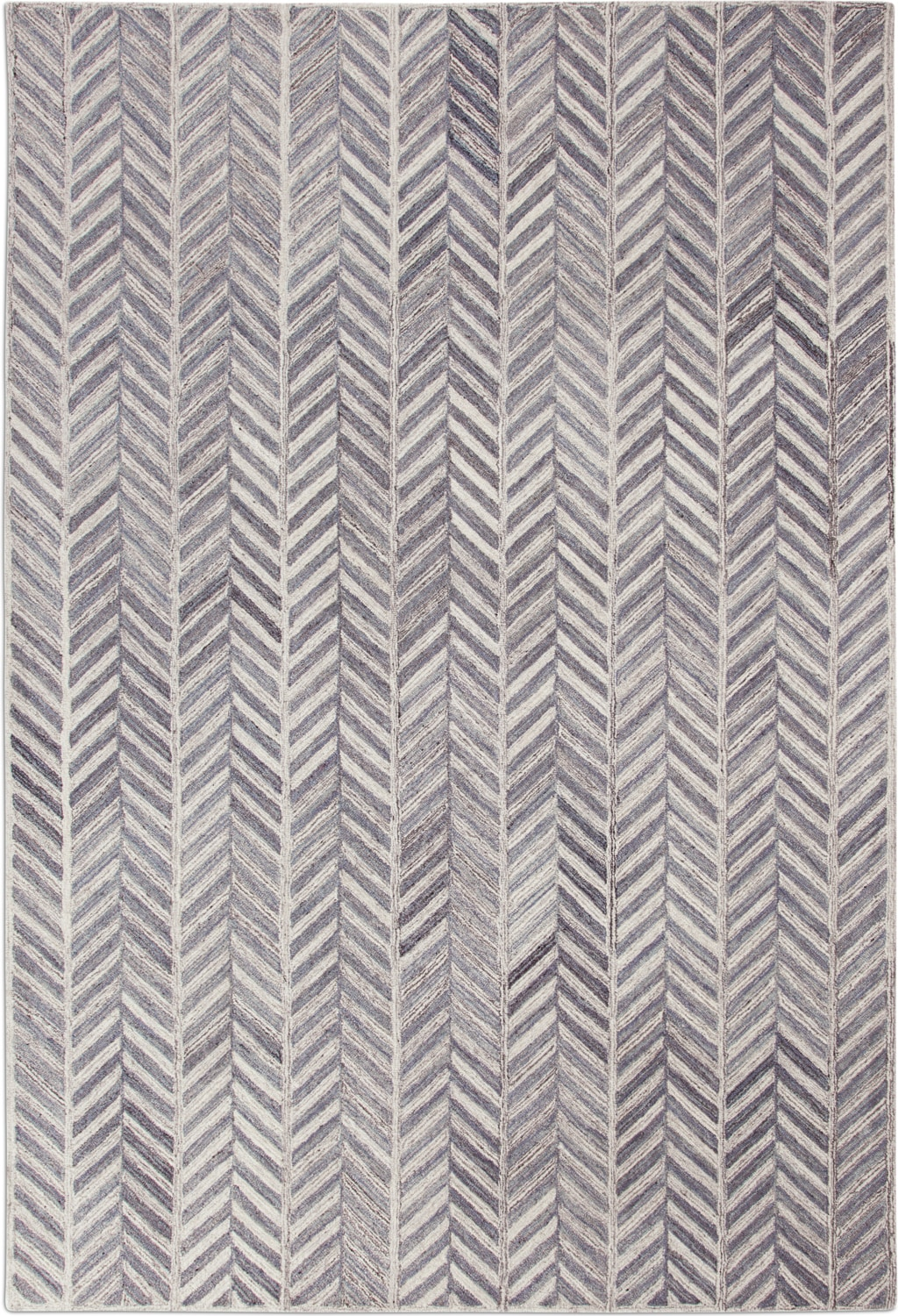 Rugs - Everest Area Rug - Ivory/Gray