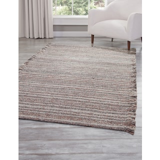 Lifestyle 5' x 8' Area Rug - Gray/Brown/Ivory