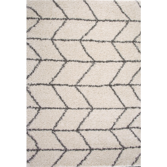 Rugs - Elements Area Rug - Ivory and Charcoal