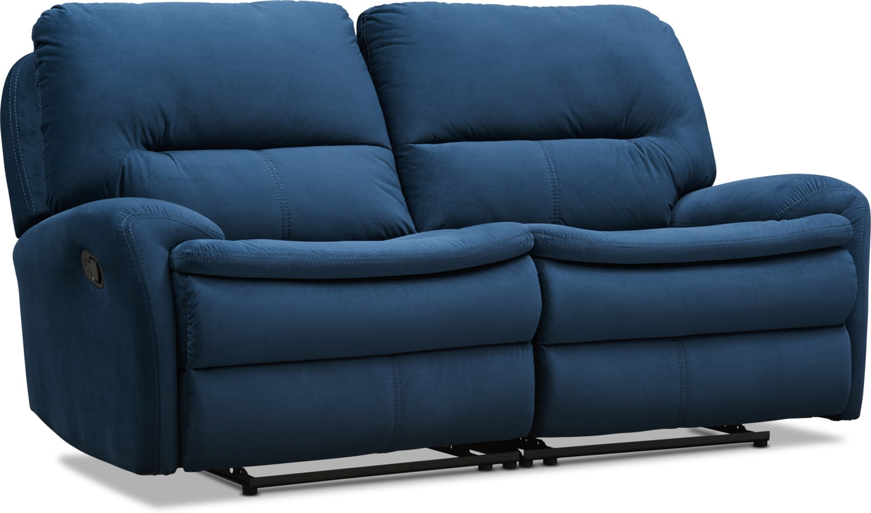 Living Room Furniture - Cruiser 2-Piece Manual Reclining Loveseat - Ink