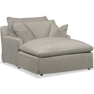 Plush Chaise - Oatmeal