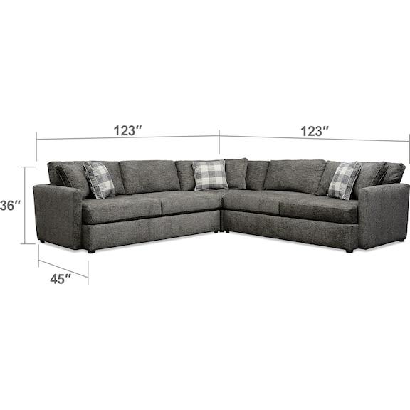 Living Room Furniture - Garrett 3-Piece Sectional