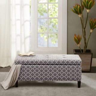 Eleanor Upholstered Storage Bench - Gray