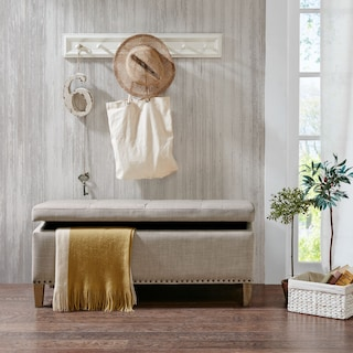 Eleanor Upholstered Storage Bench - Natural