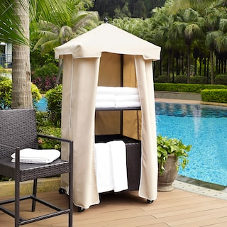 Aldo Outdoor Towel Valet - Sand