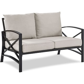 Clarion Outdoor Loveseat - Oatmeal