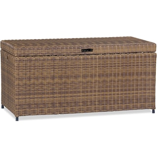 Jonah Outdoor Storage Bin - Brown