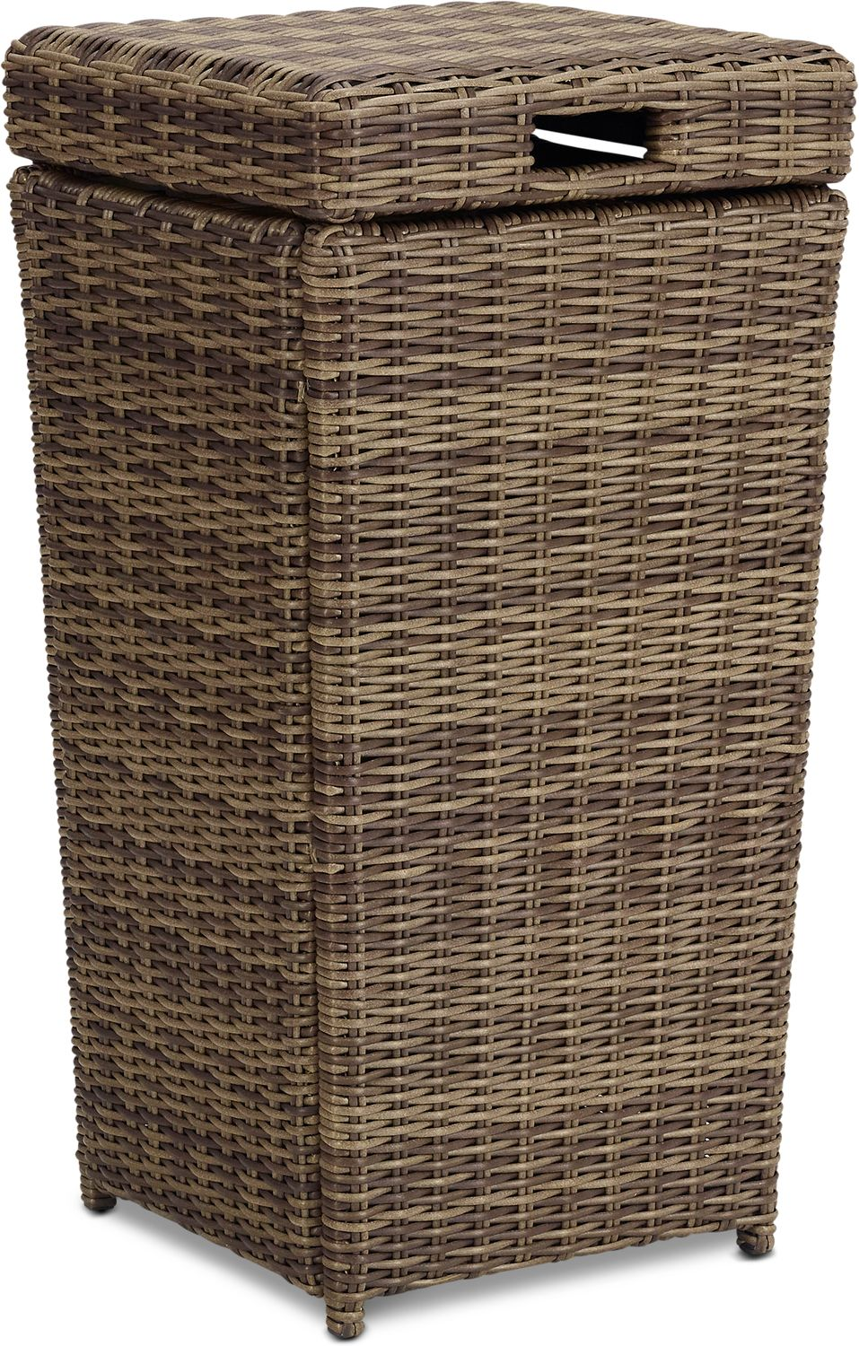 Outdoor Furniture - Jonah Outdoor Trash Can - Brown