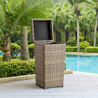 Jonah Outdoor Trash Can - Brown