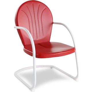Kona Outdoor Bistro Chair - Red