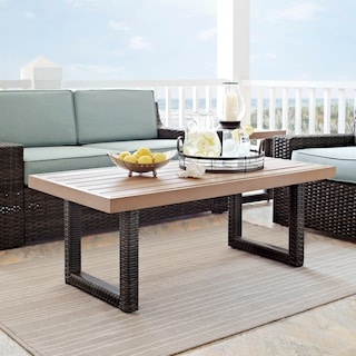Tethys Outdoor Coffee Table - Brown