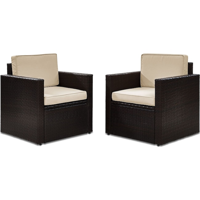 Outdoor Furniture - Aldo Set of 2 Outdoor Chairs