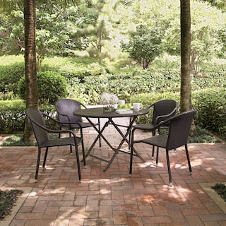 Aldo Outdoor Café Table and 4 Arm Chairs