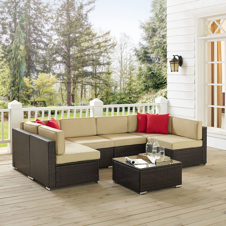 American Signature Furniture Sarasota Florida: Lakeside 6-Piece Outdoor Sectional And Coffee Table Set
